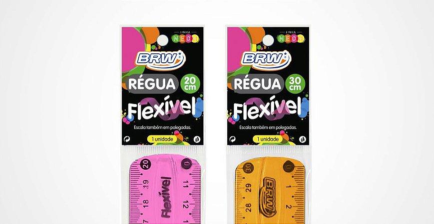 REGUA 20CM FLEXIVEL COLORS BRW RE0002