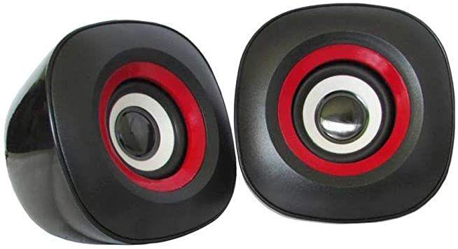 CAIXA SOM 6W (PRETO/VERMELHO )(USB)(KMEX)(SP-7000)