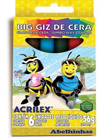BIG GIZ DE CERA 06 CORES FABER CASTELL