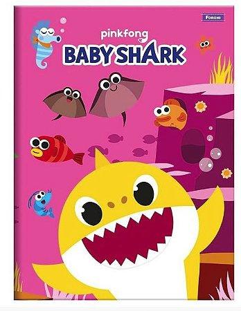 CADERNO BROCHURAO CD 48F BABY SHARK FORONI