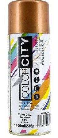 TINTA SPRAY COBRE 400ML COLOR CITY ACRILEX 534