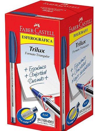 CAIXA CANETA 1.0MM AZUL C/ 5O UNIDADES FABER CASTELL