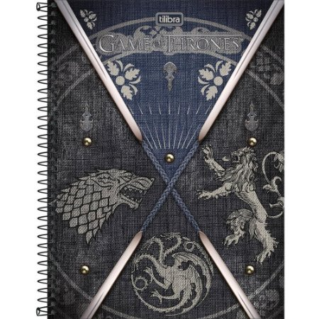 CADERNO CD UNV 10MAT GAME OF THRONES 160F (TILIBRA)