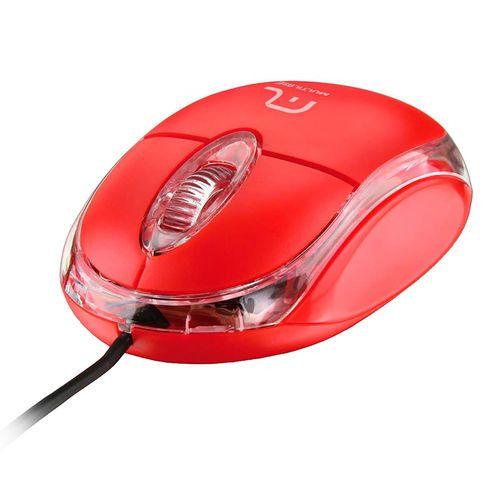 MOUSE USB (VERMELHO)(CLASSIC)(MULTILASER)MO003