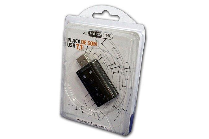 ADAPTADOR SOM   USB X P2   7.1   CANAIS    2 ENTRADAS   HARDLINE   505