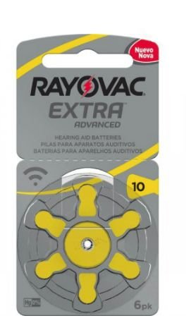 PILHA AUDITIVA PR10 1,45V UNITARIO RAYOVAC 10AUX-6XEBRA