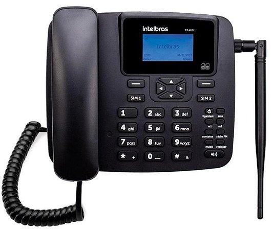 TELEFONE CEL. RURAL/URBANO QUAD 2CHIP INTELBRAS CF4202 PT