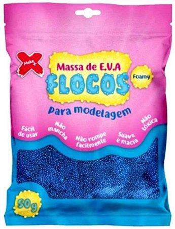 MASSA DE EVA FLOCOS AZUL 50G UN GATE 72 13.041