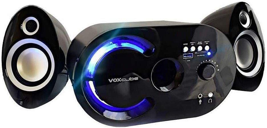 CAIXA SOM SUBWOOFER 18W 2.1  USB/SD/BLUETOOTH  VOXCUBE  PRATA VC-G320BT