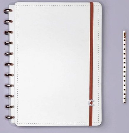 CADERNO INTELIGENTE A5 ALL WHITE