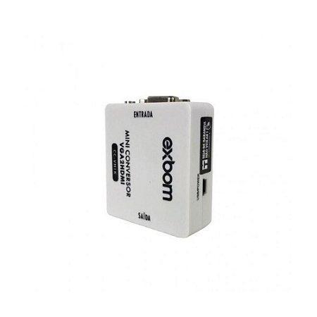 CONVERSOR MINI VGA-FEMEA X HDMI-FEMEA EXBOM CC-VH1K