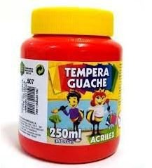 TINTA GUACHE 250ML VERMELHO ACRILEX 507