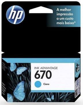 CARTUCHO HP 670 CIANO ORIGINAL CZ114AB