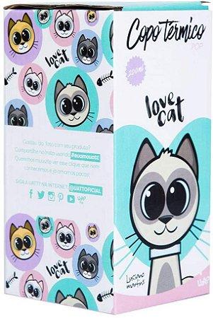 COPO TERMICO POP CAT LOVE 200ML UATT