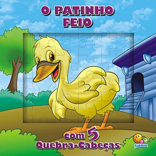 LIVRO HISTORIA CD O PATINHO FEIO EM QUEBRA-CABECA TODO O LIVRO