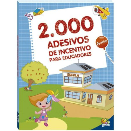 LIVRO ADESIVO PROFESSOR C/ 2000 ADESIVOS TODO O LIVRO