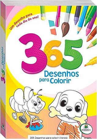 LIVRO 365 DESENHOS PARA COLORIR VERDE BRASILEITURA