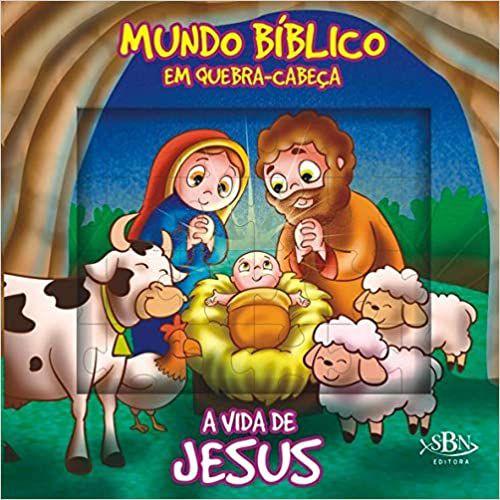 LIVRO HISTORIA CD A VIDA DE JESUS EM QUEBRA-CABECA TODO O LIVRO