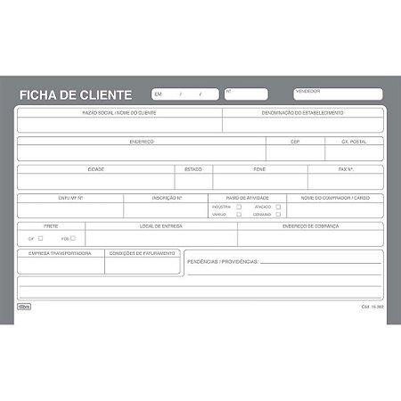 FICHA DE CLIENTE N3 5X8 100F TILIBRA