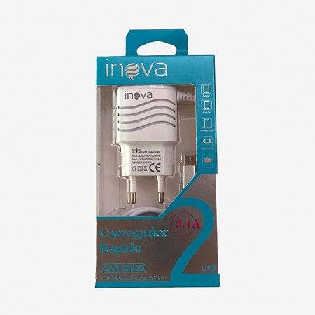 CARREGADOR TIPO C 2 USB 3.1A+CABO INOVA CAR-2143D/2084