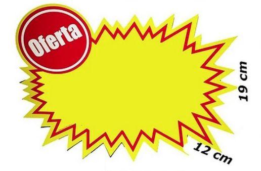 PLACA OFERTA PEQUENA SPLASH OFERTA 12X19 UN RAD 4954