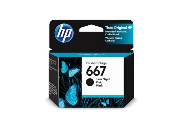 CARTUCHO HP 667 PRETO ORIGINAL 3YM79AL