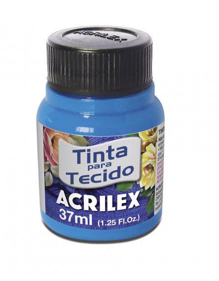 TINTA TECIDO 37ML AZUL FLUORESCENTE ACRILEX 109