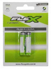 PILHA ALCALINA AAA 2UN FLEX FX-AAAK2