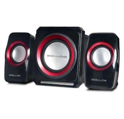 CAIXA SOM SUBWOOFER 18W 2.1 USB/FM/SD/BLUETOOTH VOXCUBE VERMELHO VC-G500BT