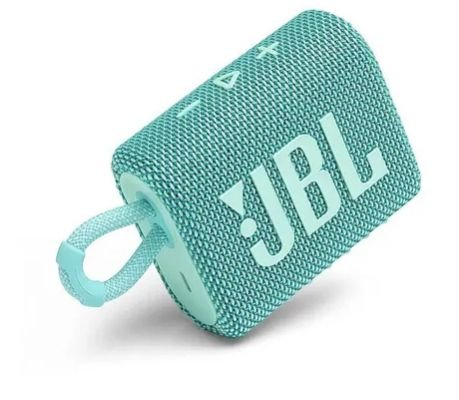 CAIXA SOM BLUETOOTH JBL GO 3 AZUL TURQUESA ORIGINAL IPX7