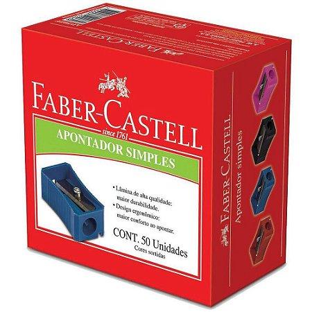 APONTADOR SIMPLES CAIXA COM 50UN FABER CASTELL