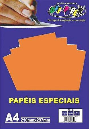 PAPEL COLOR A4 20F 120G LARANJA OFF PAPER