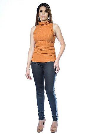 47aeddfbb Blusa Gola Alta Canelada - Domênyca   Moda Feminina Premium