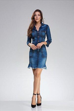 Imagens de vestidos jeans curtos