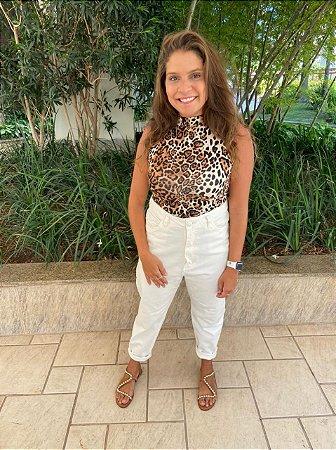 Calça Jeans Mom Branca
