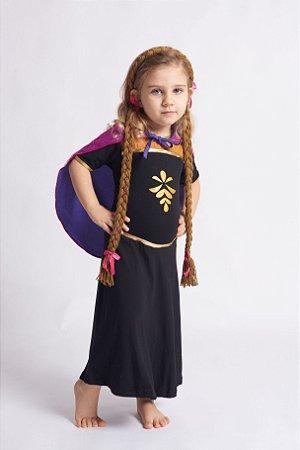 Vestido Infantil Princesa Com Capa