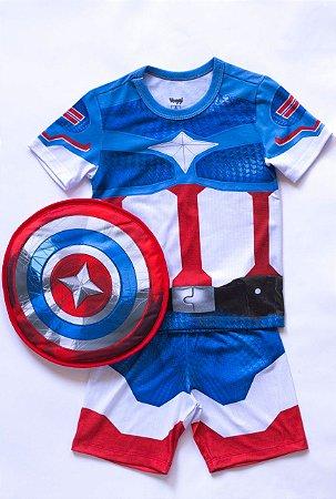 Fantasia Infantil Herói Com Escudo