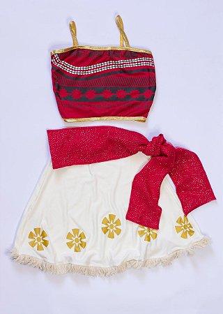 Conjunto Infantil Princesa Vermelho