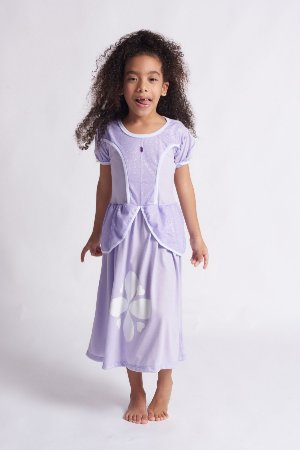 Vestido Infantil Princesa Lilás