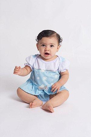 Body Bebê Princesa Azul