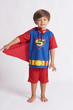 Fantasia Infantil Super Herói Capa