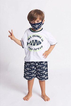 Conjunto Infantil Com Máscara
