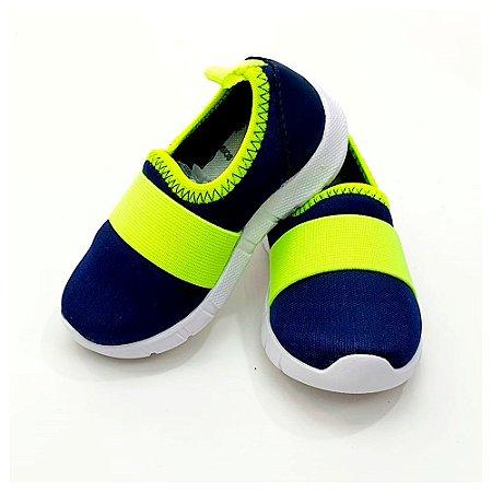 Tênis Jogging- marinho/verde
