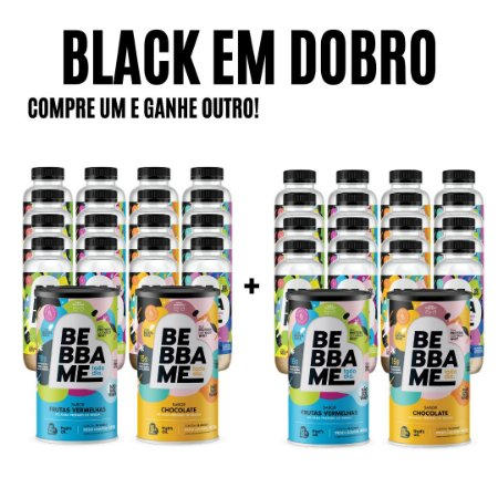 Super Combo Mix com 16 garrafas + 2 Lata Bebba Me Todo Dia - Sabor Chocolate e Frutas Vermelhas COMPRE UM GANHE OUTRO (4 Latas + 32 Garrafas)