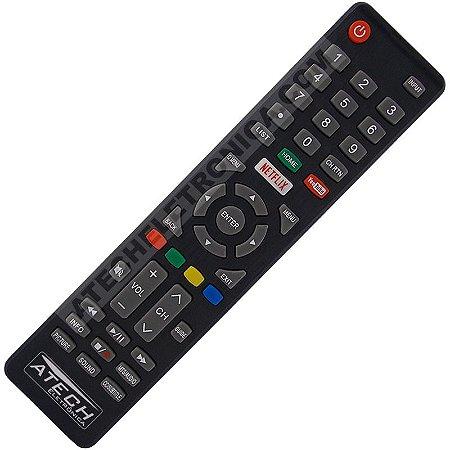 Controle Remoto TV LED Cobia CTV50UHDSM / Haier HR58U3SDK1 com Netflix e Youtube (Smart TV)