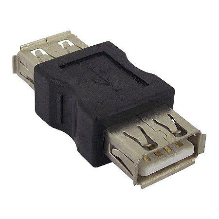 Adaptador USB Fêmea + USB Fêmea (Emenda)