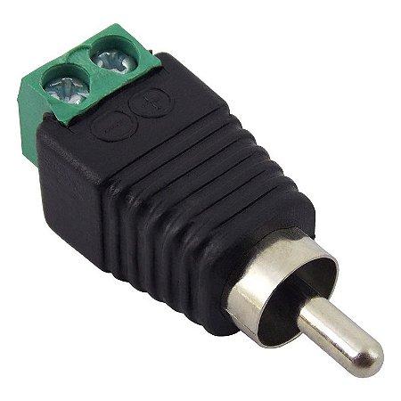 Conector RCA Macho com Borne para Sistema de Segurança (CFTV)