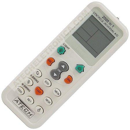 Controle Remoto Universal Ar Condicionado Split / Janela / Portátil (200 Marcas)