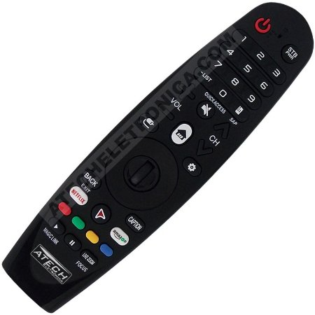 Controle Remoto Universal Smart TV LG Magic AM-HR650A com Netflix e Amazon