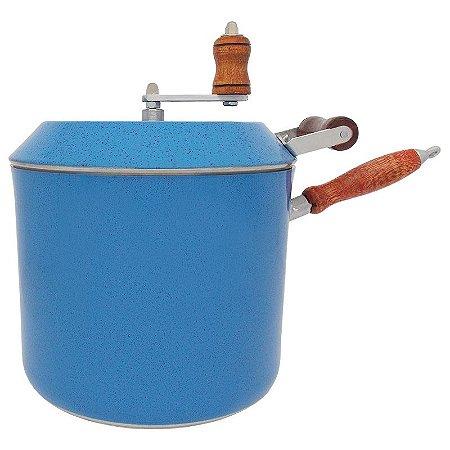 Panela Pipoqueira de Alumínio Capacidade 6 Litros - Azul